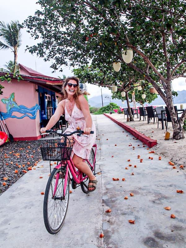Riding a Bike in Gili Air