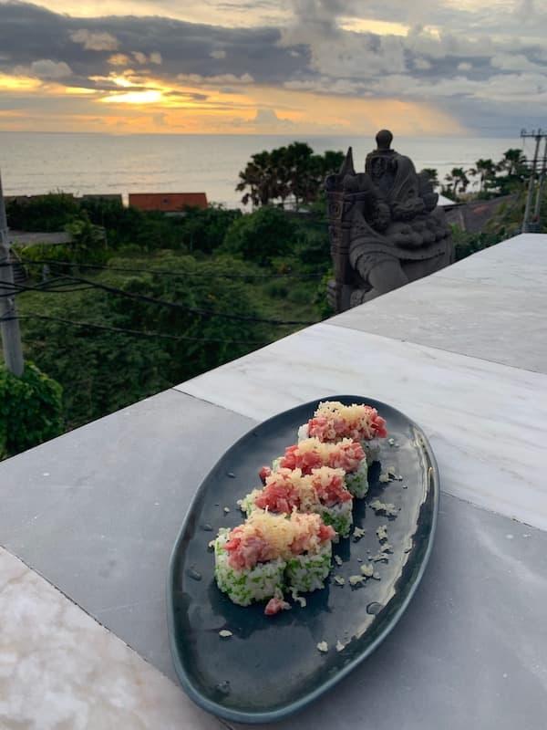 Sunset Sushi in Bali Canggu
