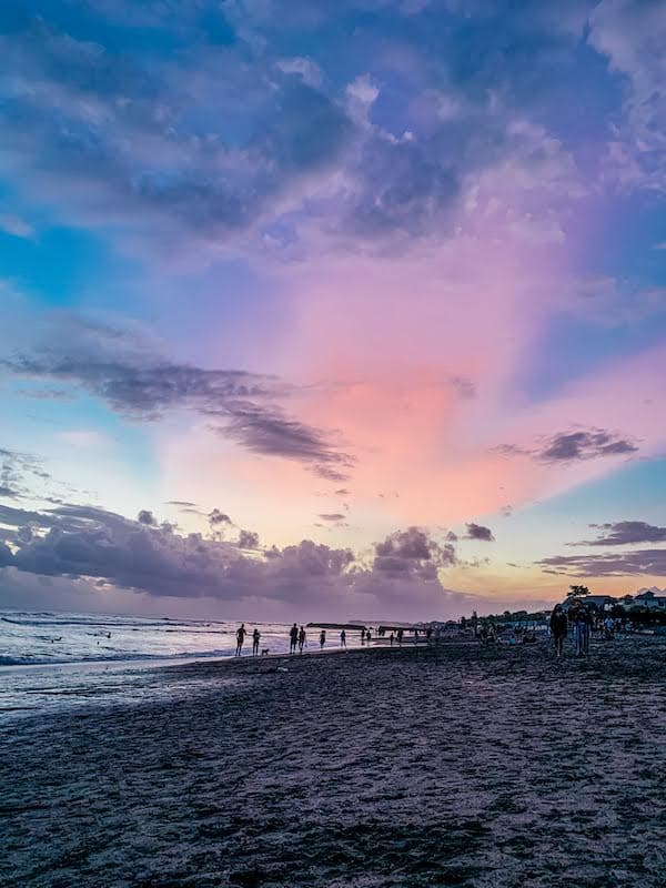 Sunset Beach Walk Bali Indonesia