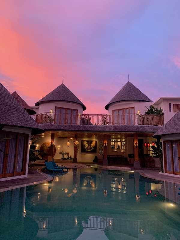 Villa in Bali Sunset