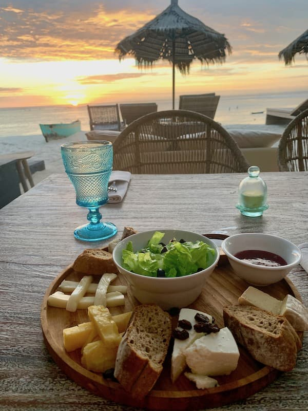 Cheese Plate and Sunset in Nusa Lembongan