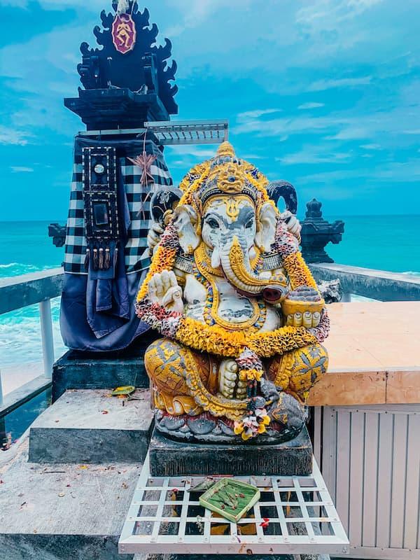 Ganesha Statue in Dreamland Beach