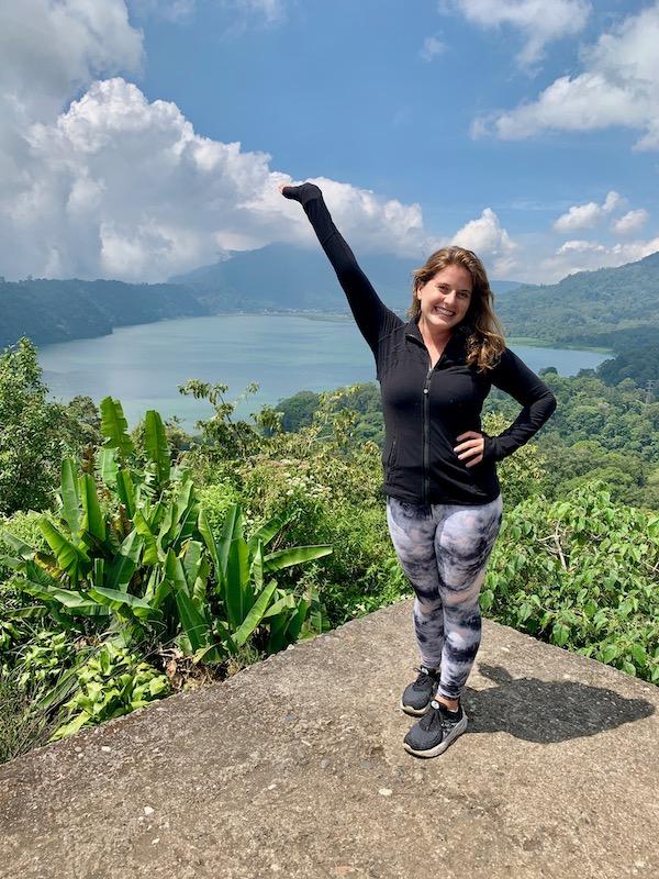 Twin Lakes View in Munduk Bali Indonesia