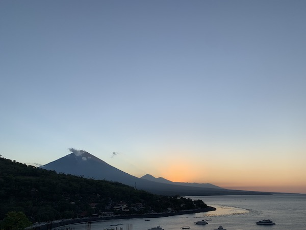Mount Agung view from Amed Bali Sunset Point