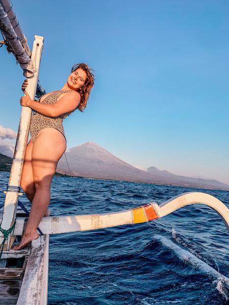 Sunrise boat tour in Amed Bali Indonesia