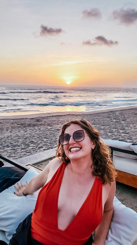 Sunset from Finn's Beach Club