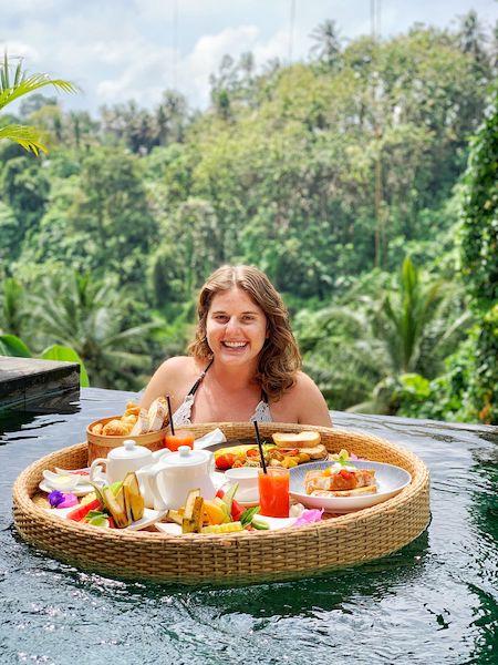Floating Breakfast Bali Indonesia