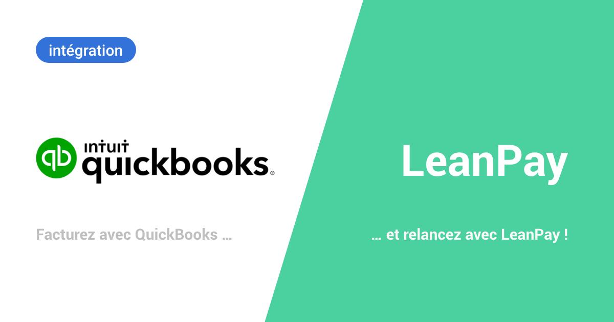 LeanPay et QuickBooks s'associent pour réduire vos impayés