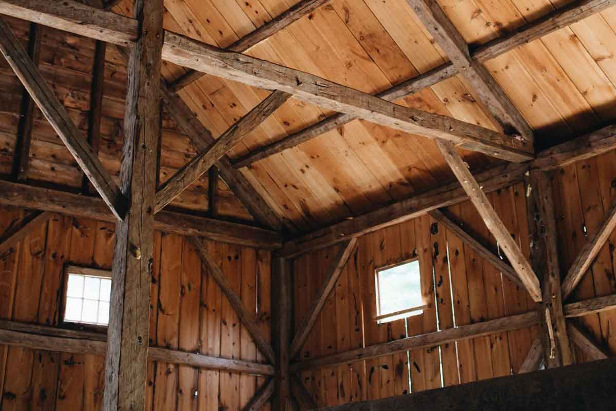 Inside the barn at Squire Tarbox Inn