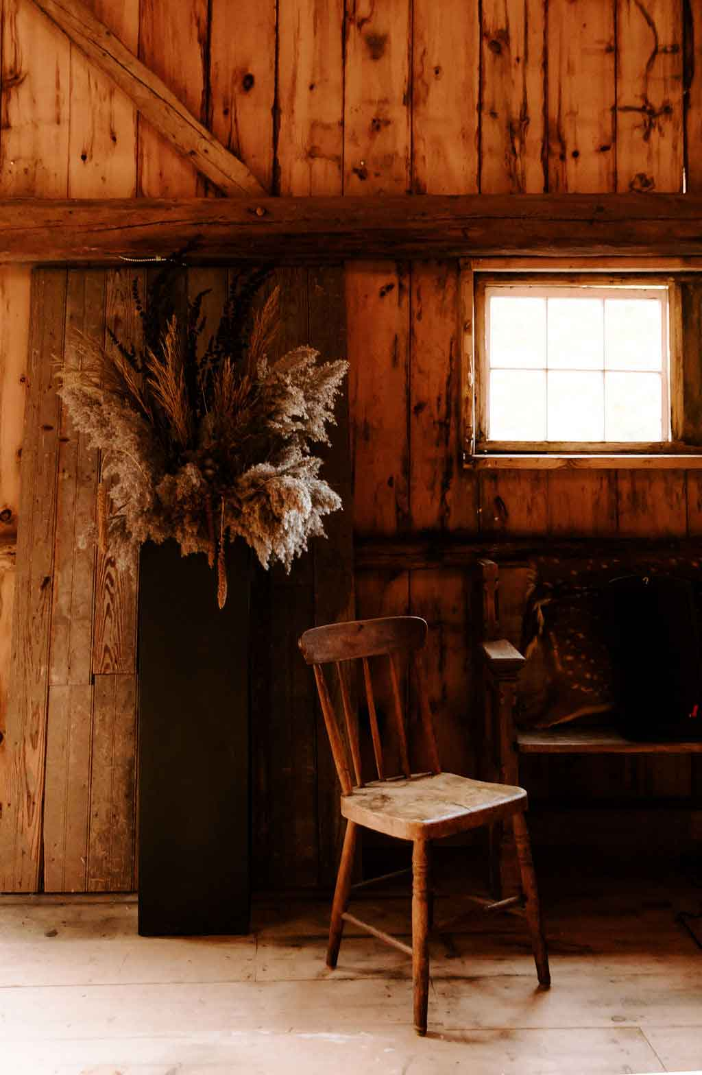 Inside the barn at the Squire Tarbox Inn