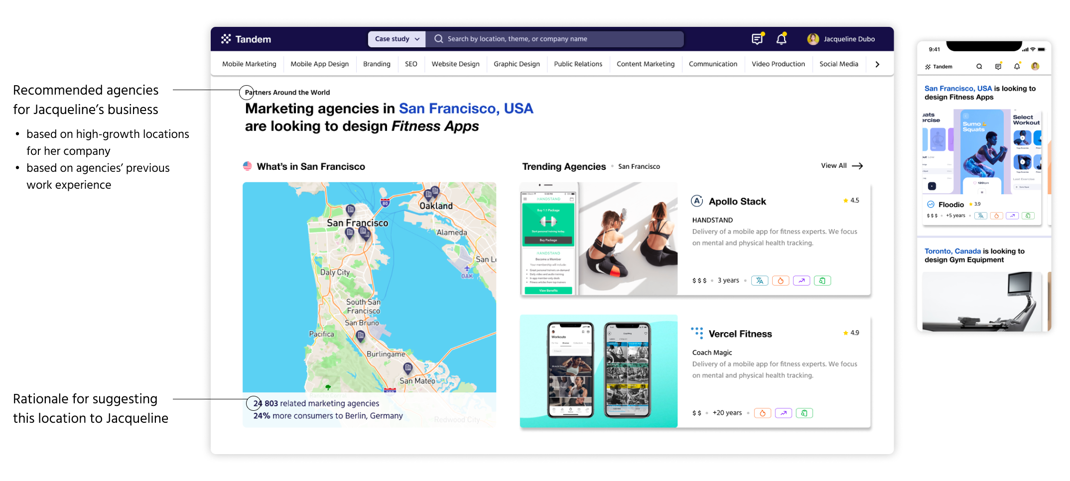 discover recommended agencies with Tandem