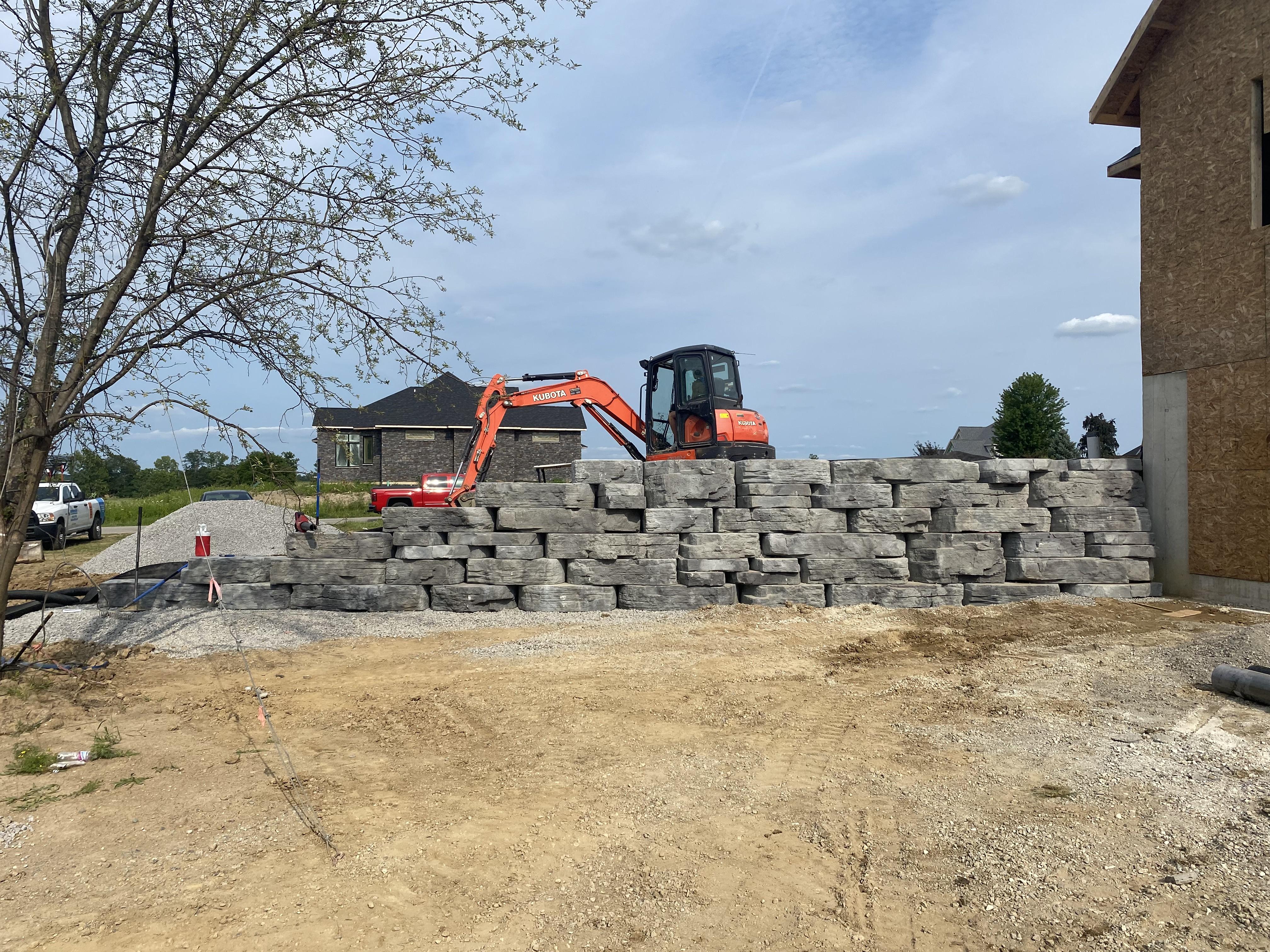 Rosetta Retaining Wall Installation