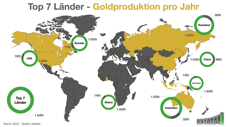 Geldanlage in Edelmetalle wie Gold auf der ganzen Welt