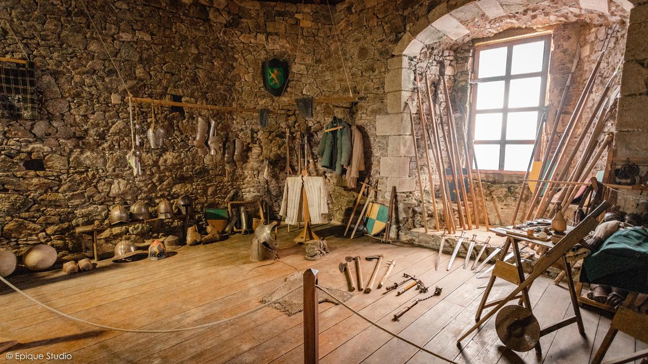 Chambres et pièces médiévales