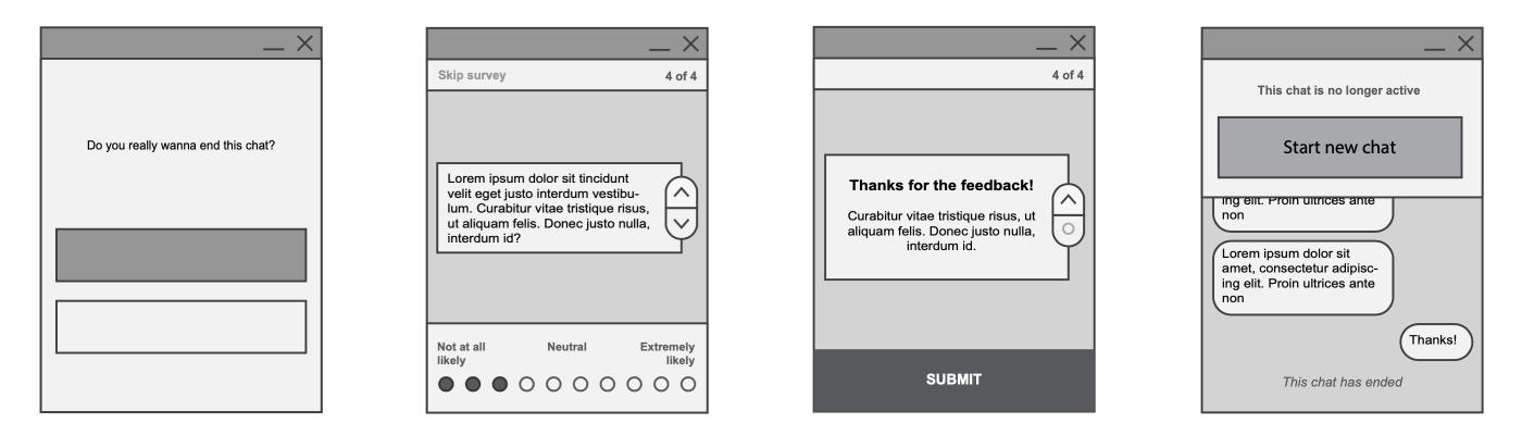 Wireframe of Chatbar feedback