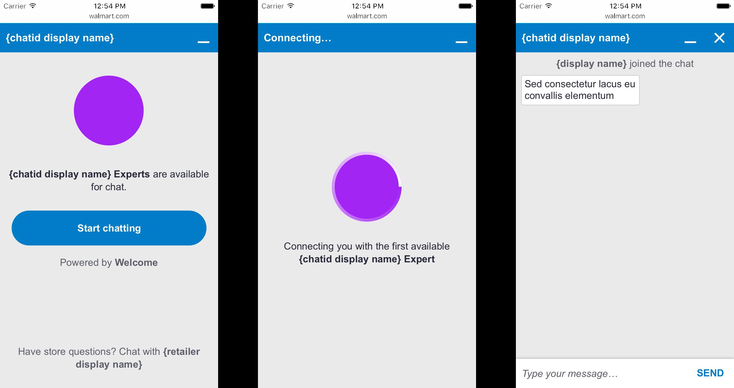 Screenshot of Chatbar Mobile