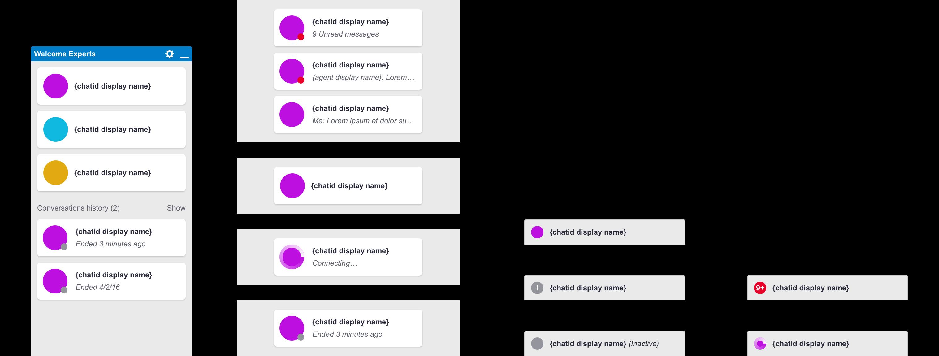 Screenshot of Chatbar Component System