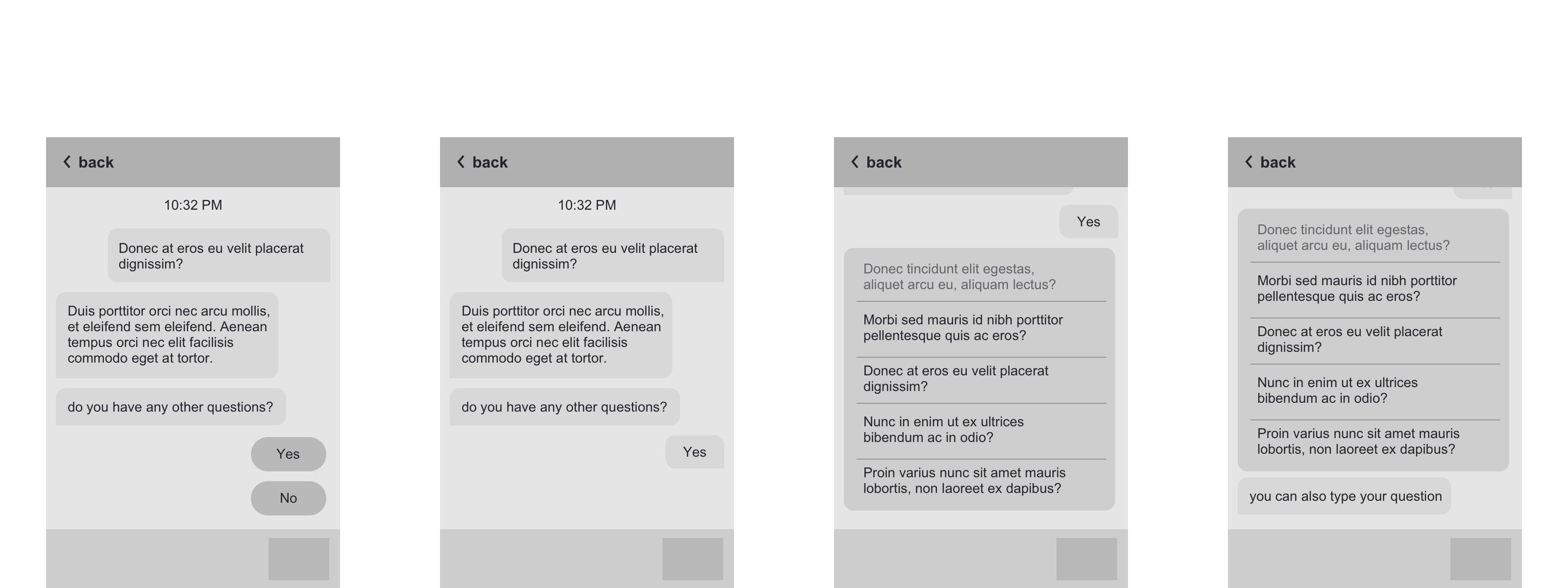 Screenshot of Chatbar 3 wireframes