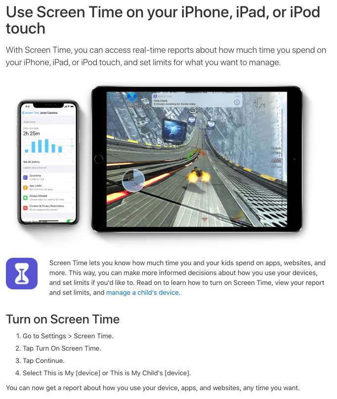 monitor screen time on iphone ipad or ipod touch