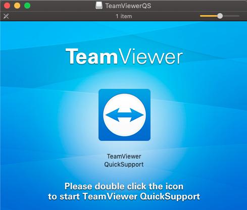 MacOS TeamViewer Start