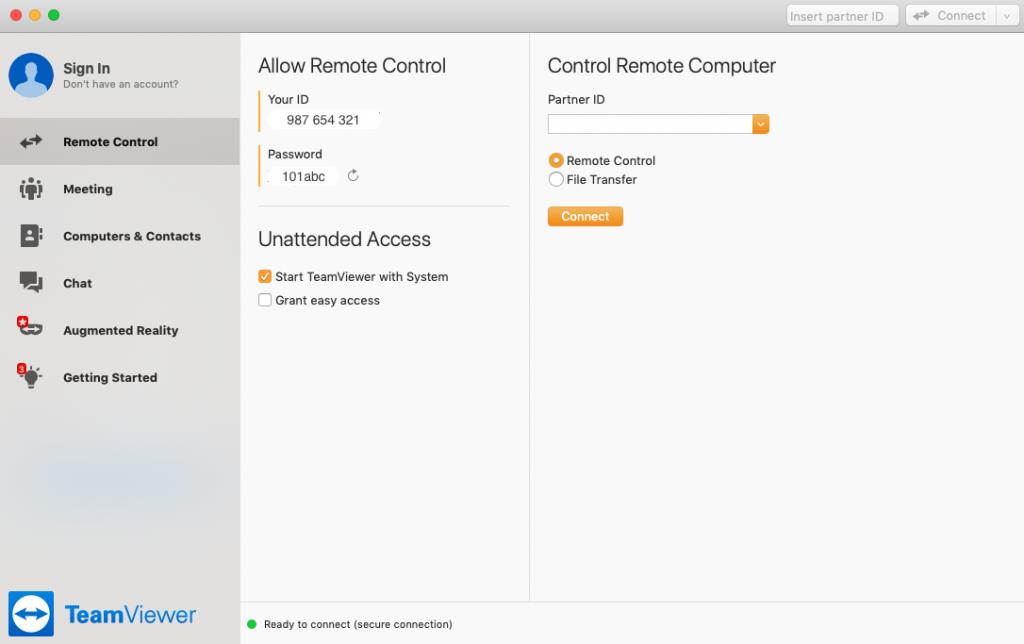 Mac TeamViewer Details