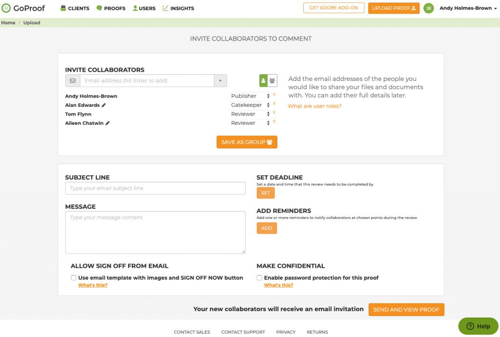 GoProof Collaborator Group - Uploader