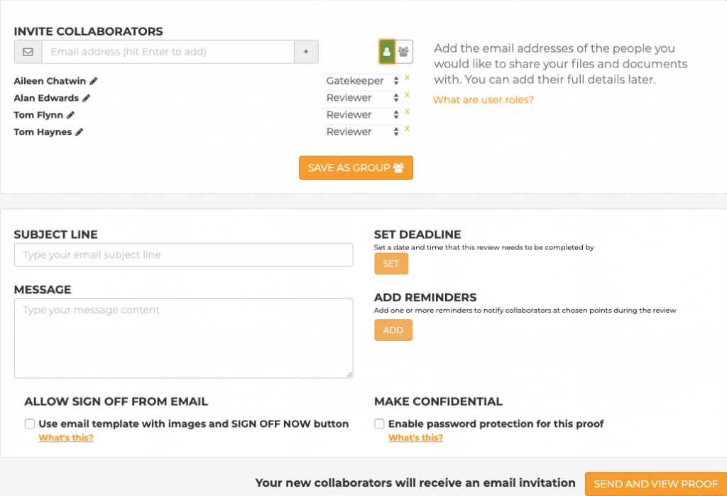 GoProof Invitation Email - Uploader
