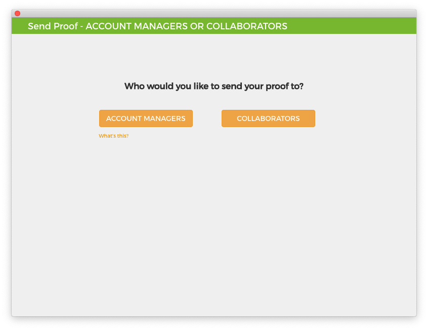 GoProof Account Manager Option