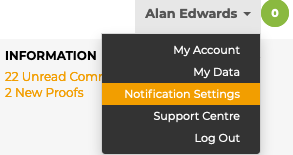 GoProof Collaborator Notification Settings