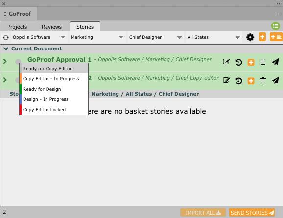 GoCopy InDesign Story Status 3