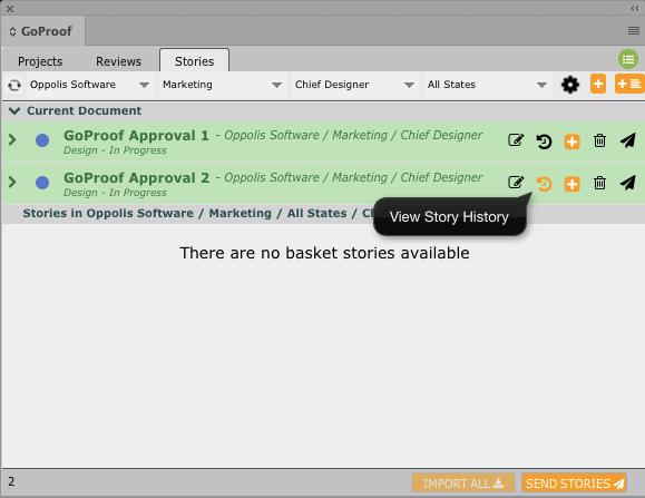 GoCopy InDesign Story History