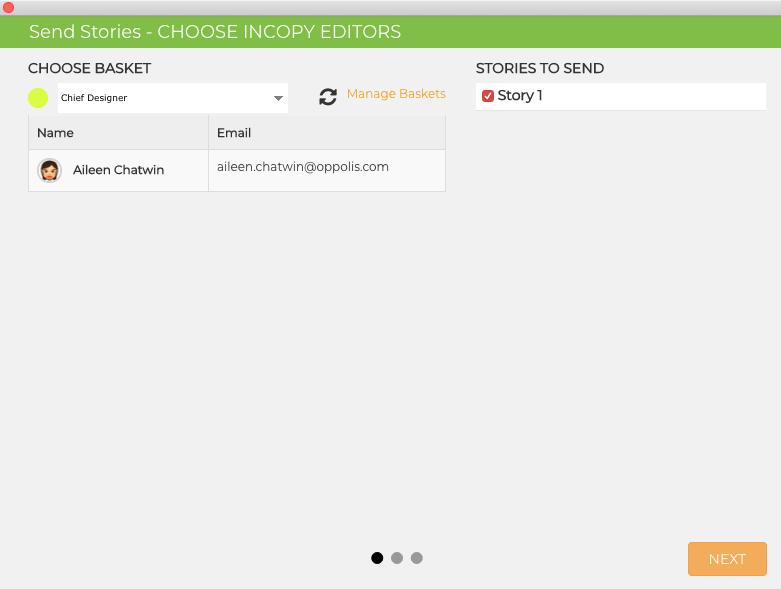 GoCopy Manage Baskets Option 2