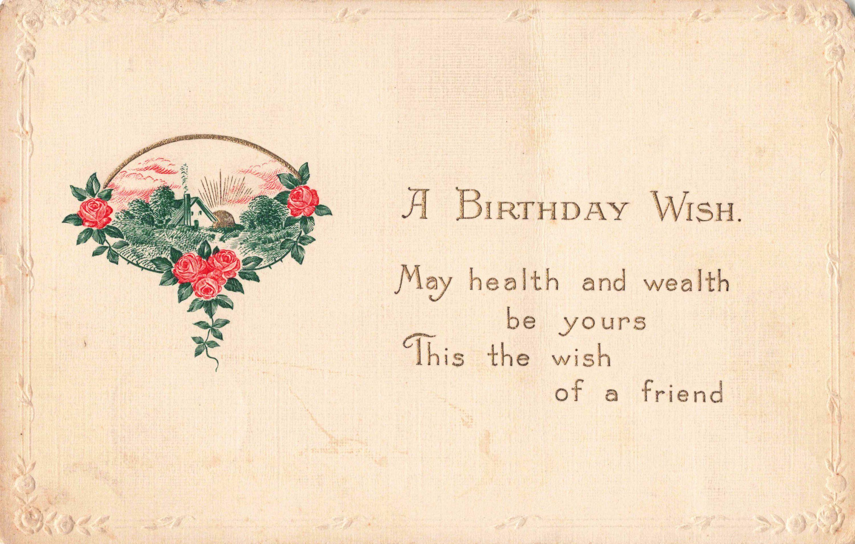 Postcard A Birthday Wish Posted 1915 | Etsy | Birthday wishes, Postcard,  Postcard mailing