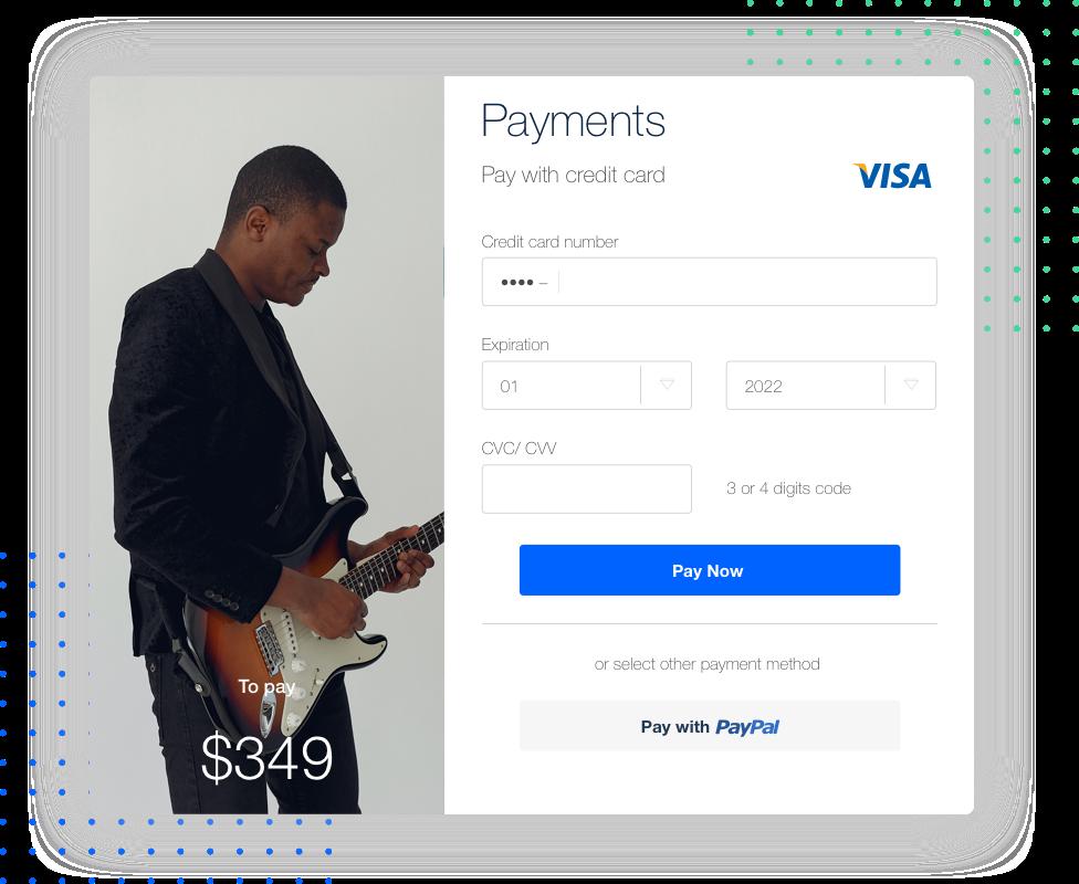 payment online Dance school