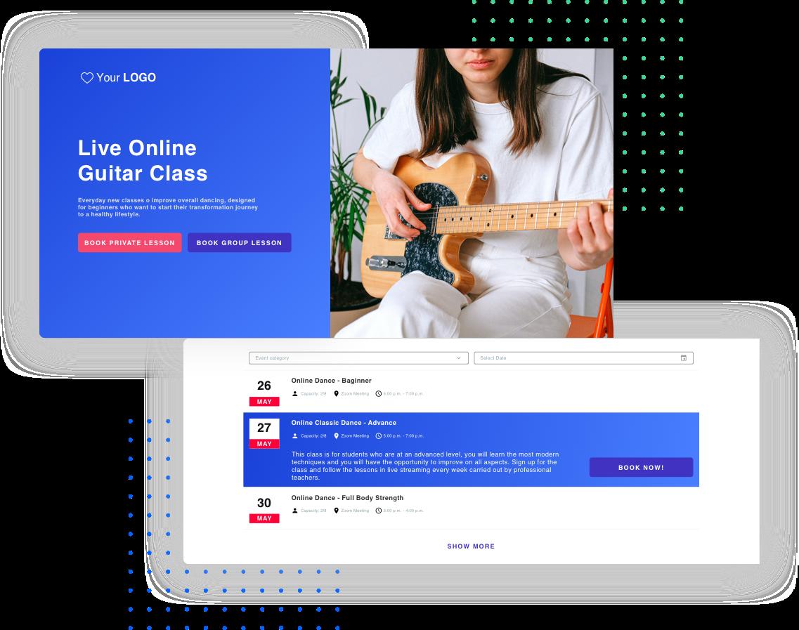 website Escola de Dança online