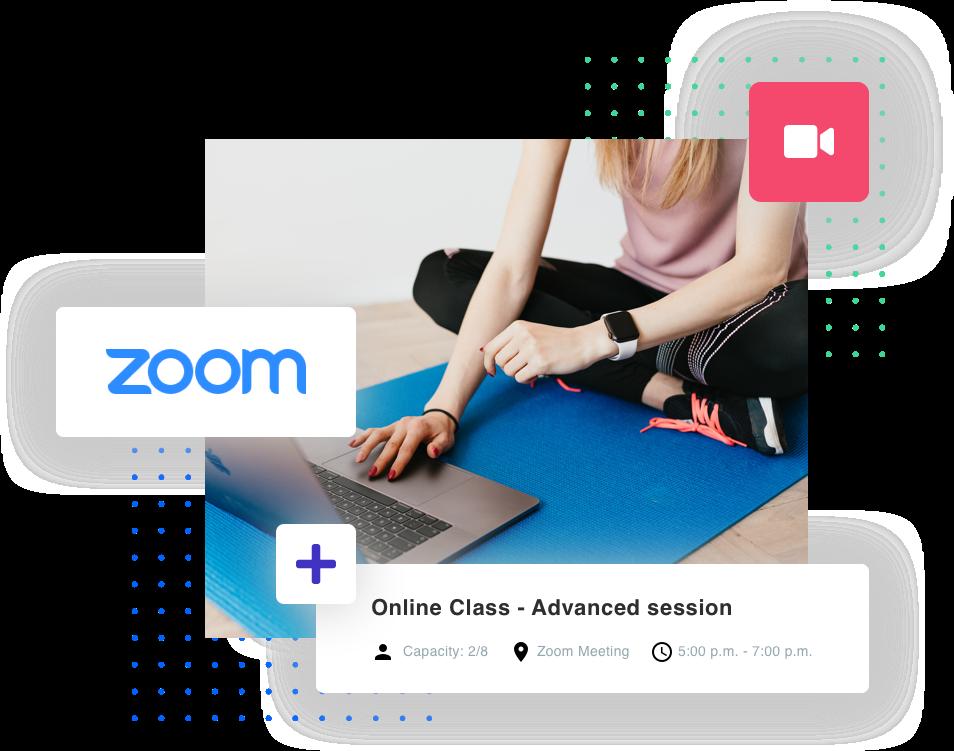 zoom online classe de fitness