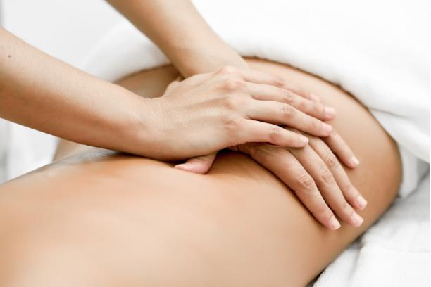 Hands on back massage