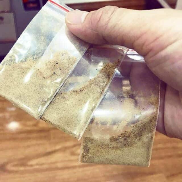 Cao sìn sú nghiền thành bột