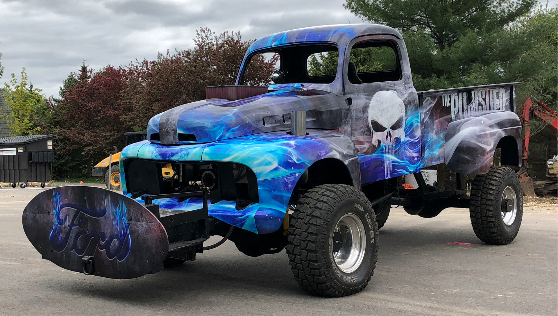 The Punisher Truck Wrap
