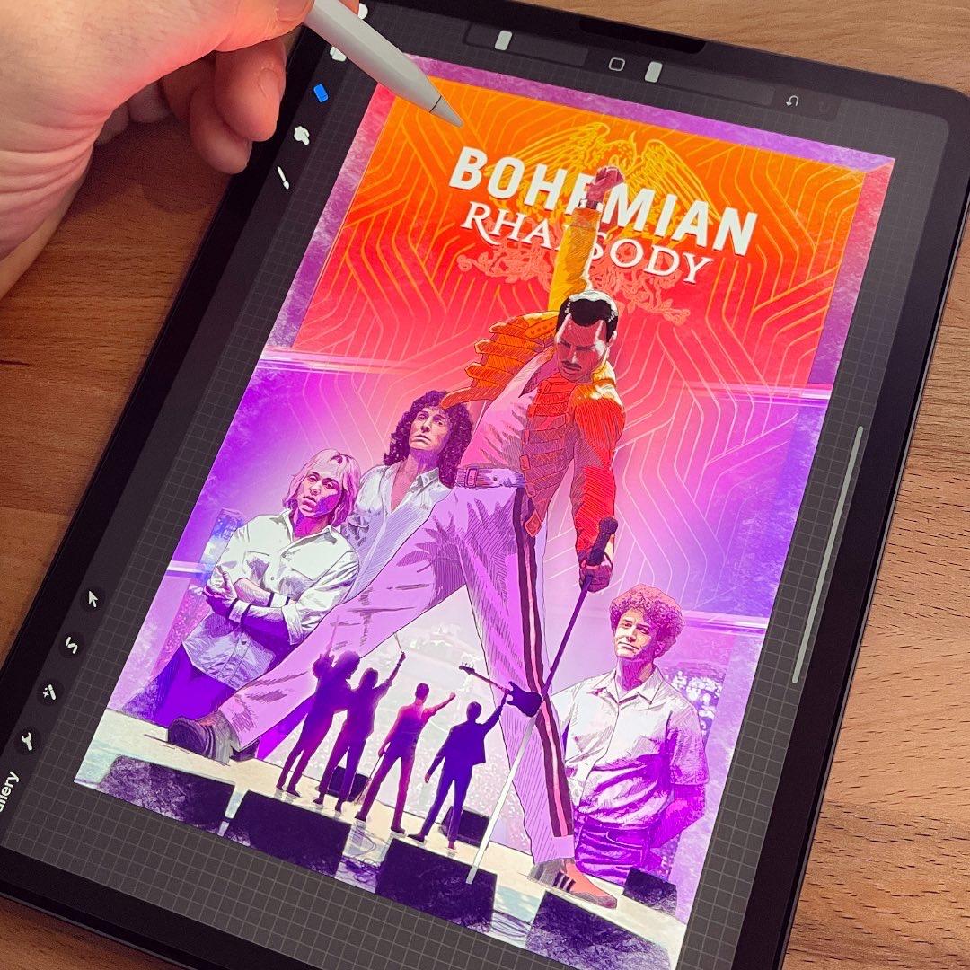 Bohemian Rhapsody drawing on ipad