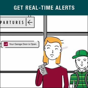 MyQ Green Eagle Garage door alerts