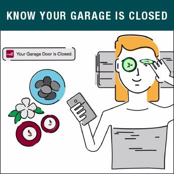 MyQ Garage Door know your garage is closed