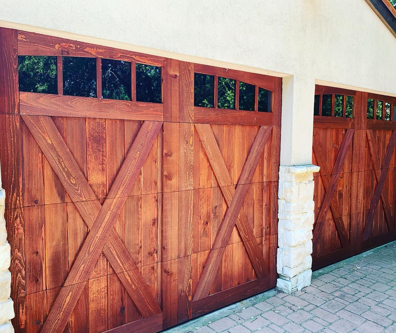 double cedar garage door installation denton