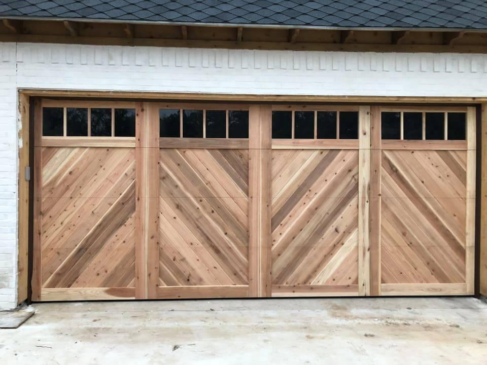 cedar garage door unfinished