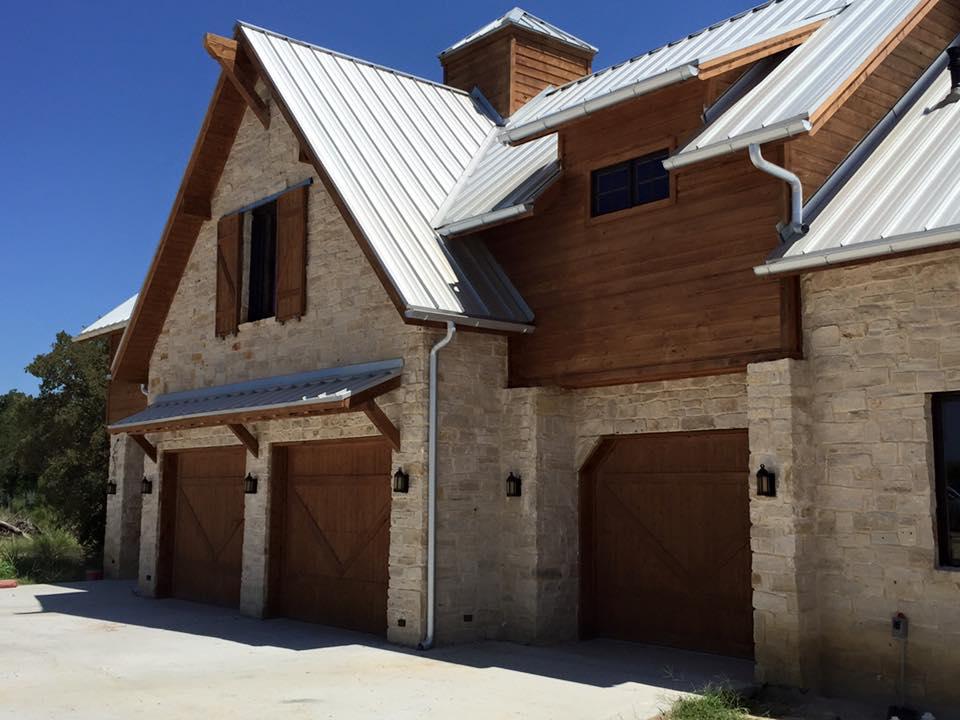 Green Eagle Garage Cedar Door installation Argyle, TX