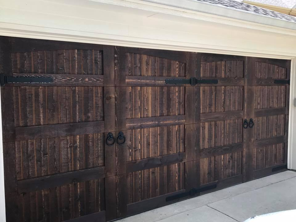 decorative cedar garage door installation