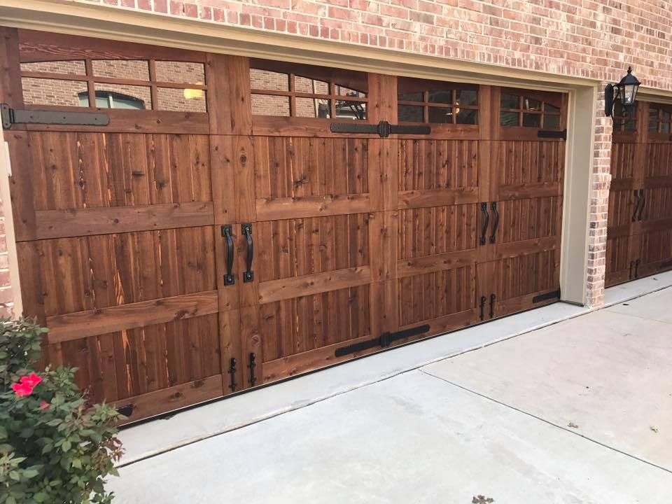 Green Eagle Garage Door cedar door installation Lantana, TX