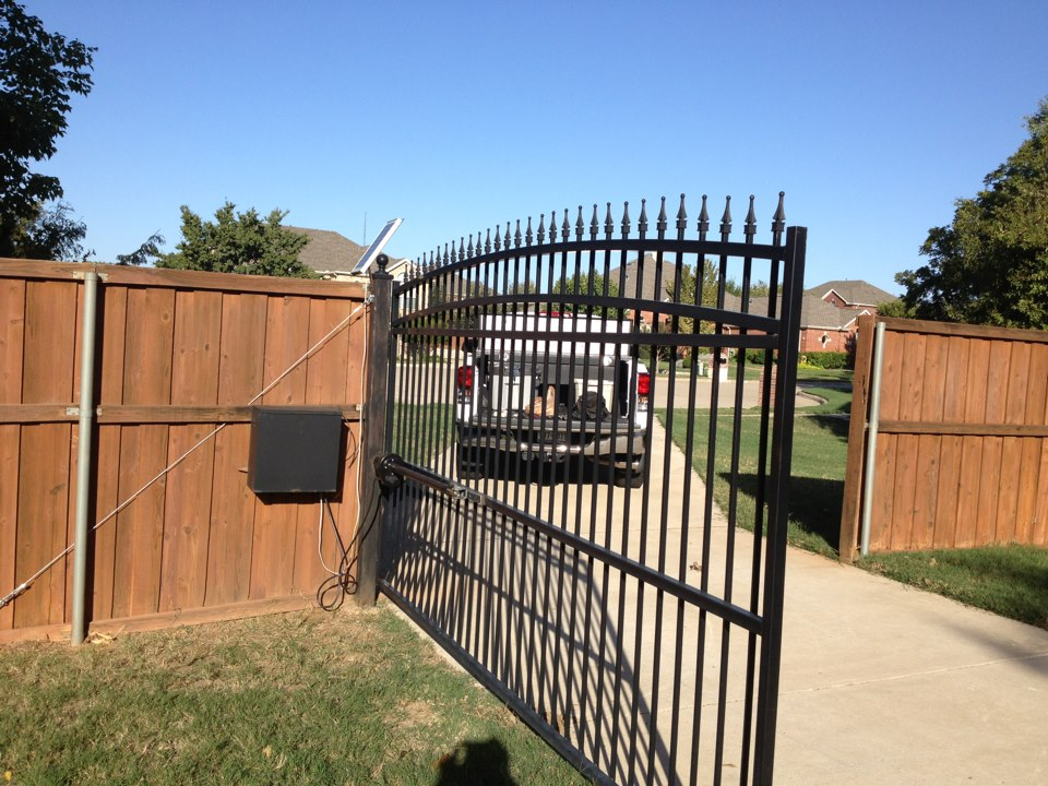 custom electric gate installation project in denton, tx