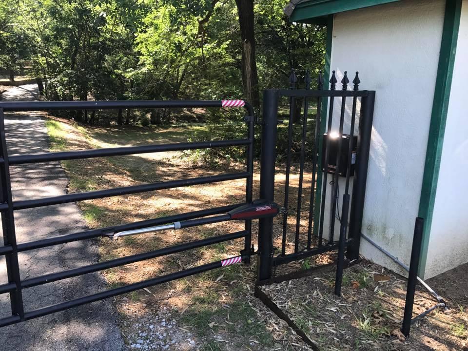 metal gate installation in argyle, texas