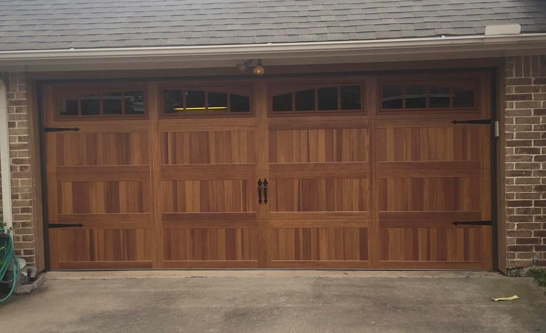wood looking garage door style